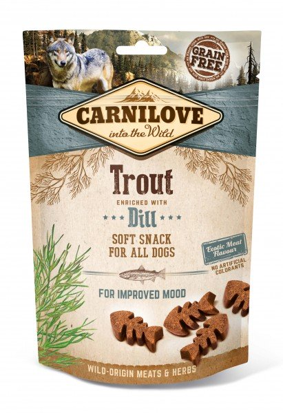 Carnilove Hund Soft Snack Forelle, Trout with Dill 200 g