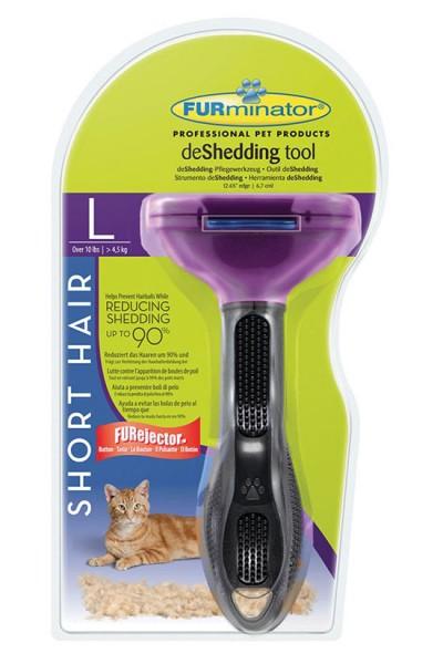 FURminator deShedding Tool für kurzhaarige kleine Katzen - S