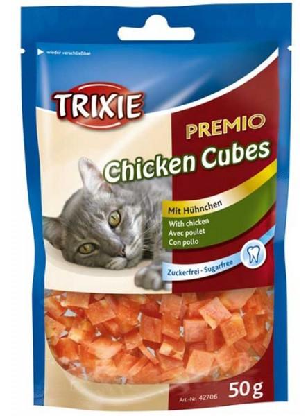 Trixie Katze PREMIO Chicken Cubes (Glütenfrei) - 50g