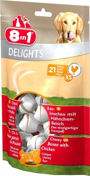 8in1 Delights Kauknochen im Beutel - XS (21 Stück)