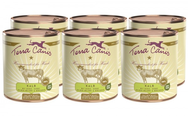 Terra Canis Classic Nassfutter, Kalb mit Hirse
