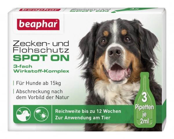 Beaphar Zecken- und Flohschutz SPOT-ON ab 15kg - 3x2ml