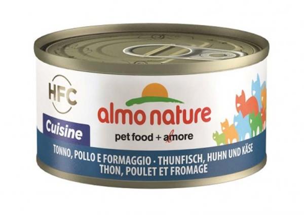Almo Nature Katzenfutter HFC Cuisine mit Thunfisch, Huhn & Käse