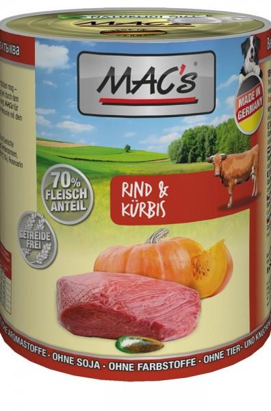 MAC's Dog mit Rind & Kürbis (getreidefrei)