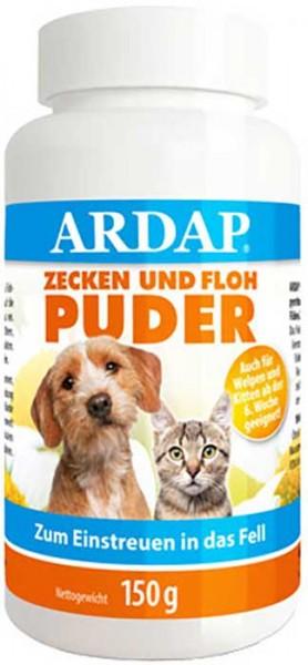 ARDAP Zecken- und Flohpuder für Hund und Katze 150 g