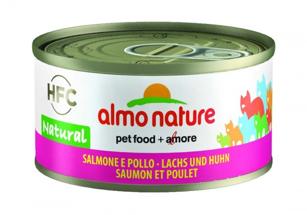 Almo Nature Katzenfutter HFC Jelly mit Lachs & Huhn