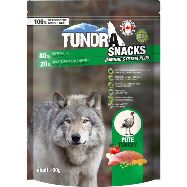 Tundra Snack 80% Fleischanteil - Immune System - Pute