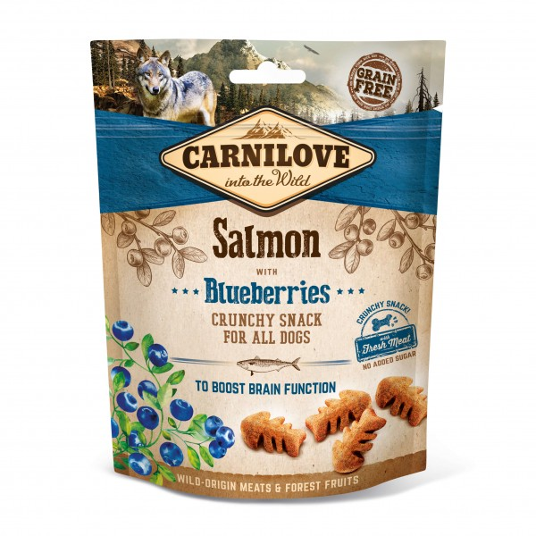 Carnilove Hund Crunchy Snack Lachs, Salmon with Blueberries 200 g