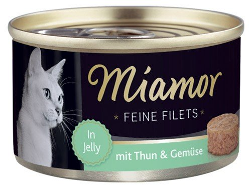 MIAMOR Feine Filets in Jelly mit Thun & Gemüse - 100g