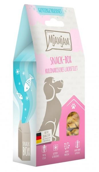 MjAMjAM Snackbox Hund - Lachsfilet - gefriergetrocknet