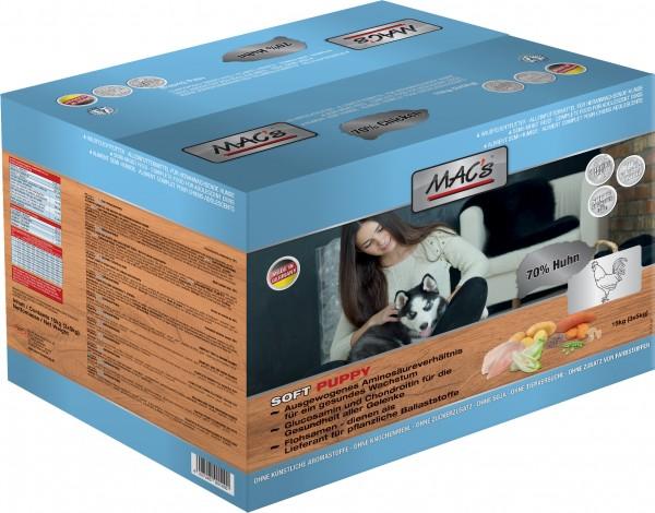 MAC's Soft Puppy mit Huhn - Halbfeuchtfutter - Getreidefrei