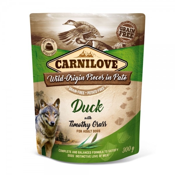 Carnilove Hund Pouch Ente, Duck with Timothy Grass