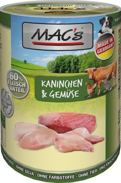 MAC's Dog mit Kaninchen & Gemüse (getreidefrei)
