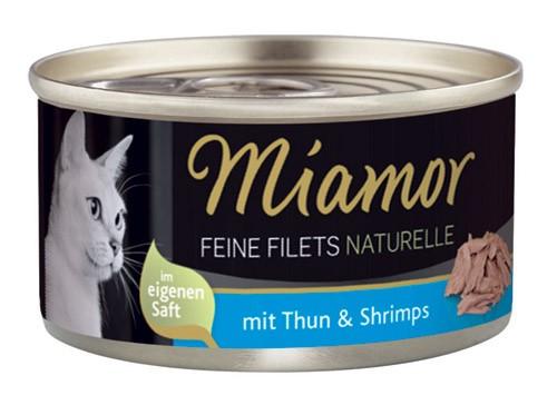 MIAMOR Feine Filets Naturelle mit Thun & Shrimps - 80g