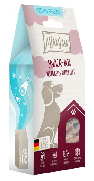 MjAMjAM Snackbox Hund - Wildfilet - gefriergetrocknet