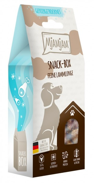 MjAMjAM Snackbox Hund - Lammlunge - gefriergetrocknet