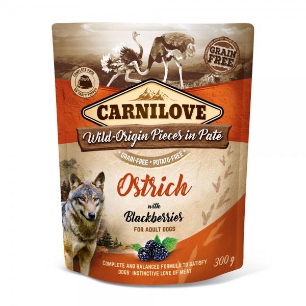 Carnilove Hund Pouch Strauß, Ostrich with Blackberries