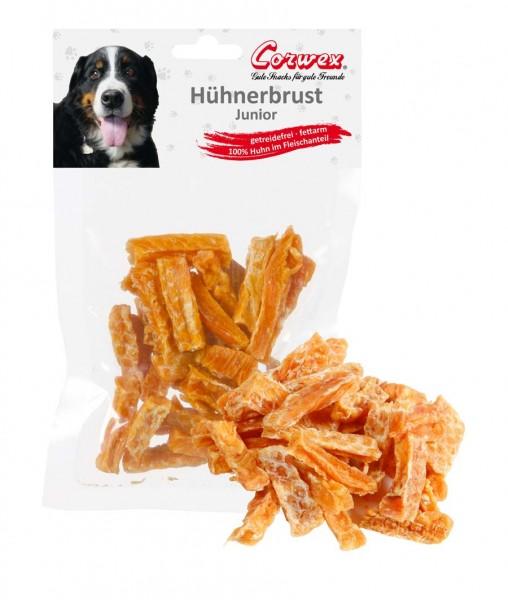 Corwex Hundesnack JUNIOR Hühnerbrust in kleinen Stückchen