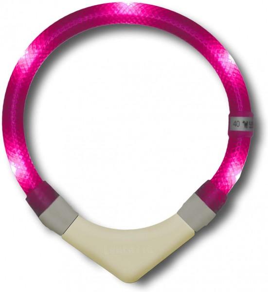 LEUCHTIE Plus Leuchthalsband - hotpink 47,5 cm