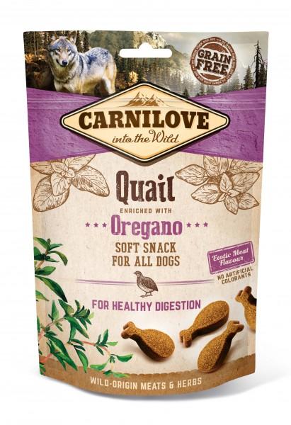 Carnilove Hund Soft Snack Wachtel, Quail with Oregano 200 g