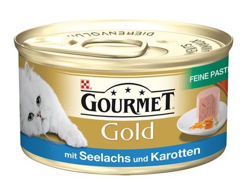 Gourmet Gold Feine Pastete Mit Gemüse - 85g Seelachs, Karotten